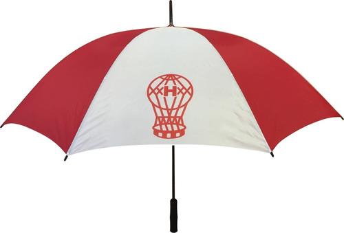 5 paraguas gigantes reforzados con logo estampado en 4 gajos