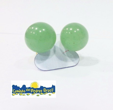 5 pares brincos em pedras lapidadas esféricas-venda atacado