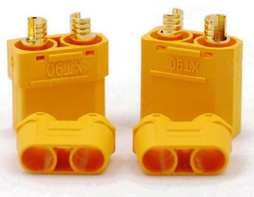 5 pares de fichas xt-90 con end cap baterias litio lipo life