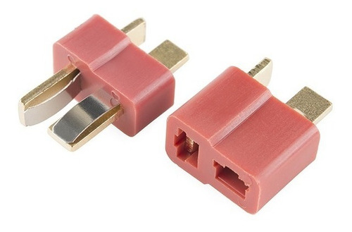5 pares fichas conector dean t baterias lipo litio polimero