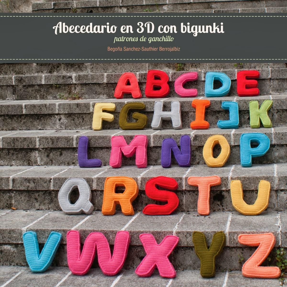 5 Patrones Abecedario Letras 3d Amigurumis Crochetx5 Modelos - $ 100 ...
