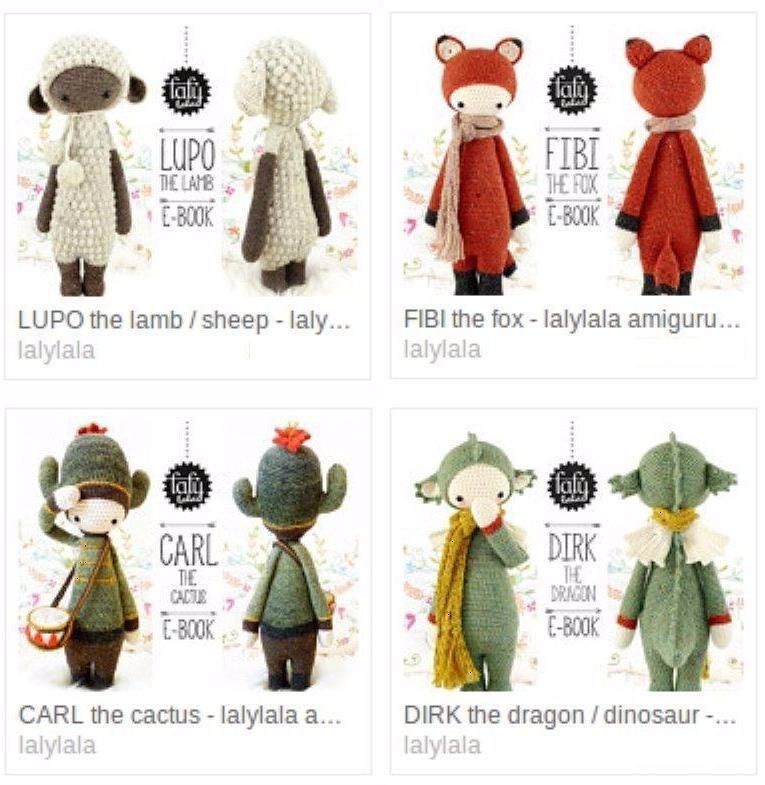 5 Patrones Lalylala A Elección En Oferta! Amigurumis Crochet - $ 145 ...