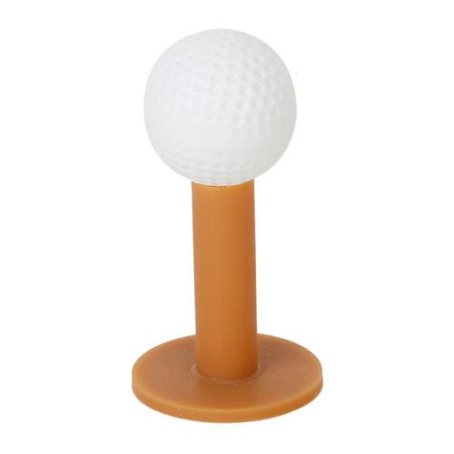 5 pcs 80mm/3.15-inch durable de goma tees de golf - café