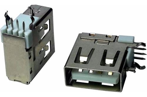 5 pçs conector usb a fêmea vertical e terminais laterais