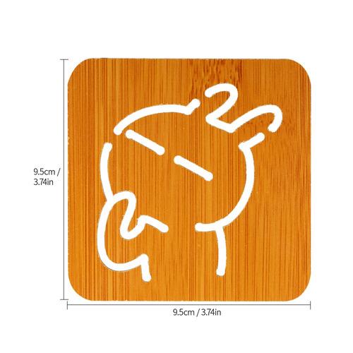 5 pcs estera aislante estera aislante de madera de bamb es
