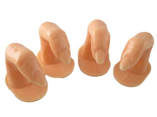 5 pcs nail art practice training display finger tip acríl...