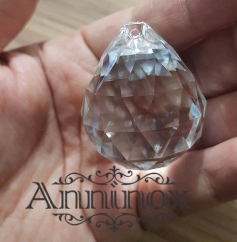 5 pcts esfera cristal acrílica 40mm para lustre de cristal