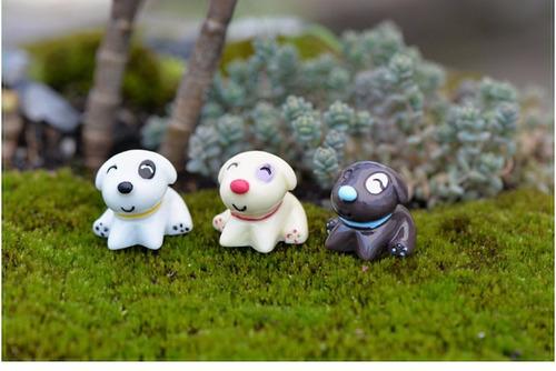 5 peças mini cachorros miniaturas terrários jardim de fadas
