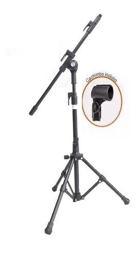 5 pedestal p/ microfone vector pmv-01 pac + cachimbo + nf