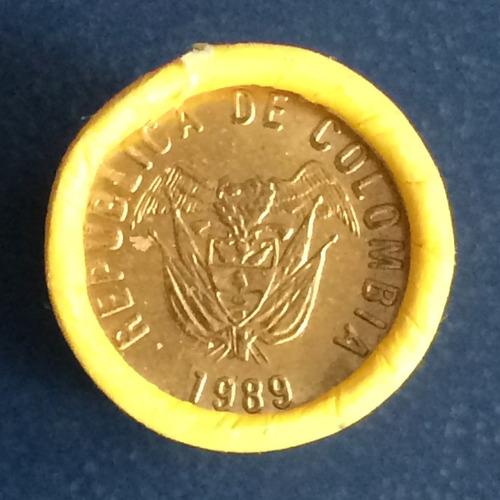 5 pesos 1989 en turro de 20 monedas