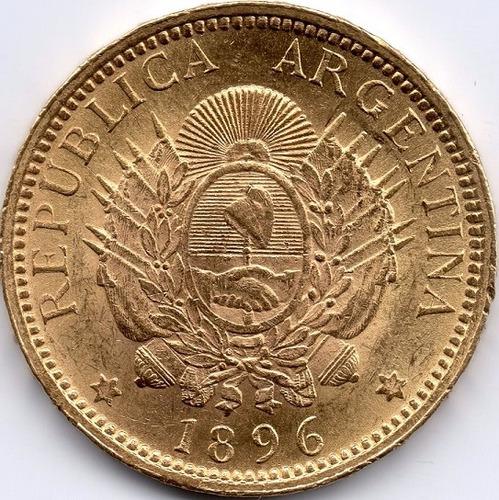 5 pesos argentino oro varios años  8,06gr oro 22k exc estado