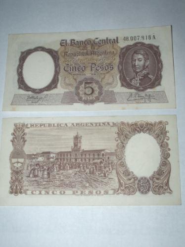 5 pesos san martin mb+..