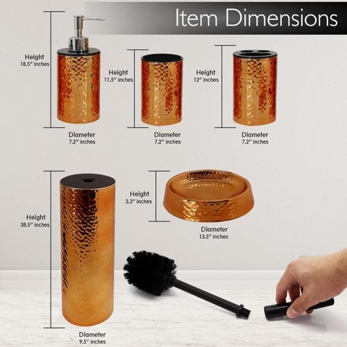 5 pieza cuarto de baño - juego de accesorios para fregadero