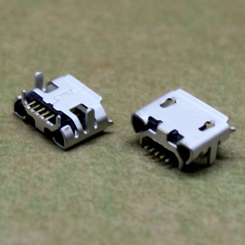 5 piezas conector micro usb 4 pies de 5 pin v8