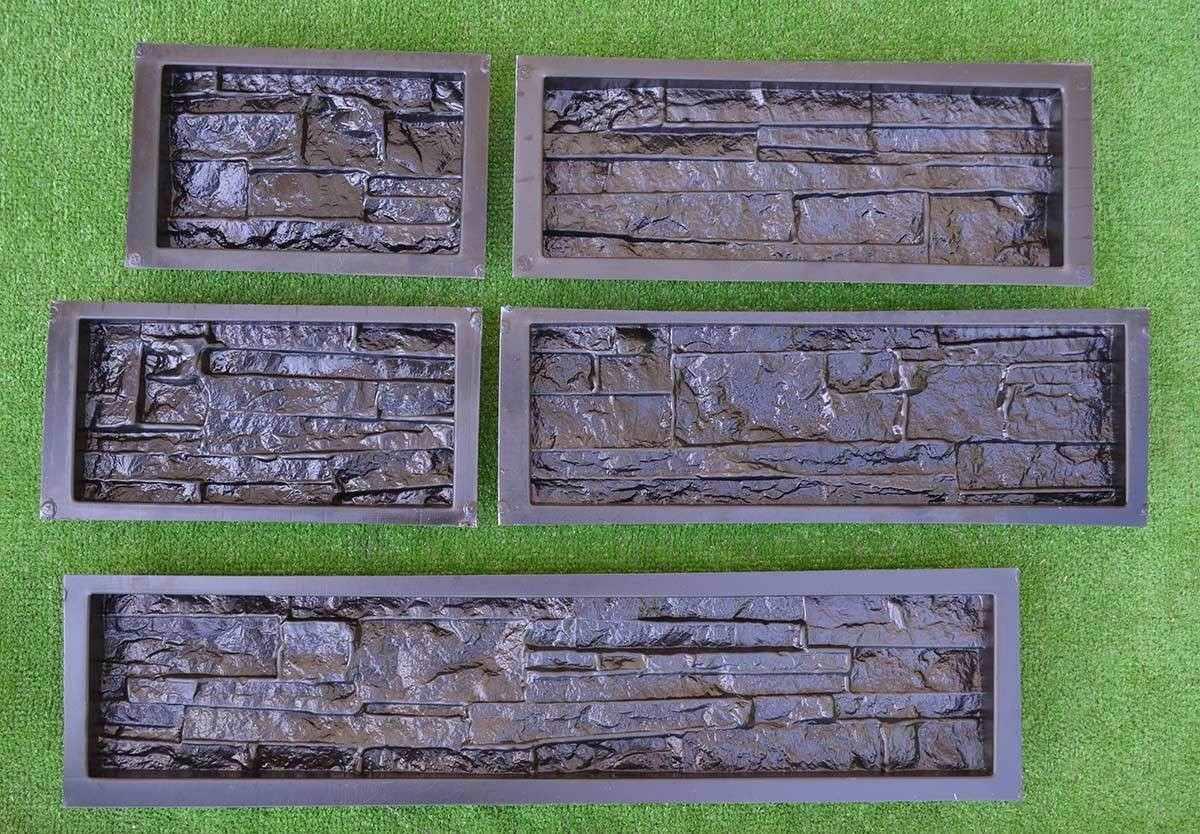 5 piezas de moldes para cemento o yeso baldosas de Baldosa pared piedra