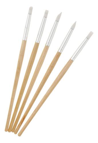 5 piezas juego de pinceles de silicona talla bolígrafos de