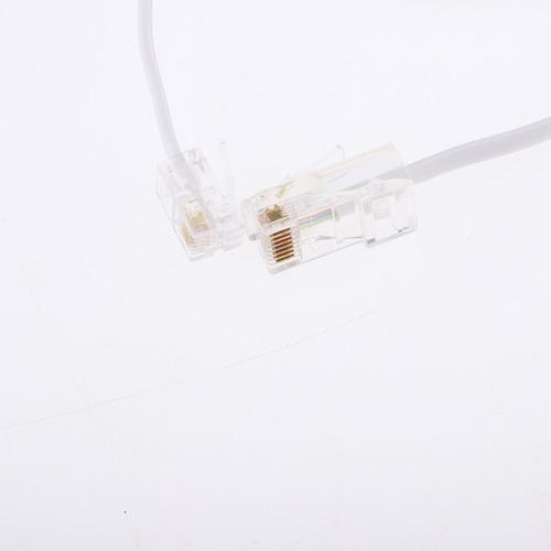 5 piezas línea telefónica cable rj45 a rj11 8p4c 6p4c, 3