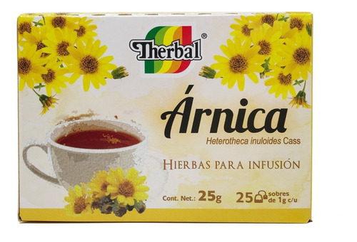 (5 piezas) té de arnica (25 sobres) therbal
