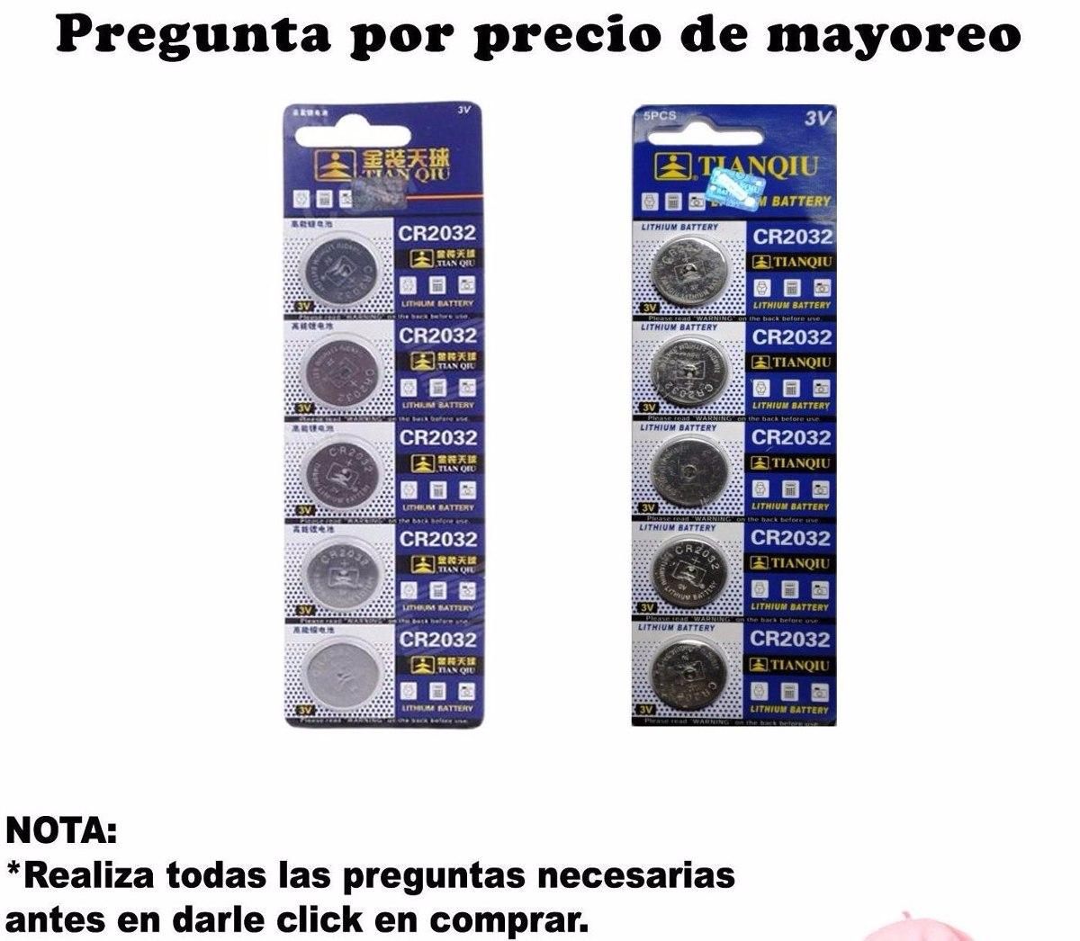 5 pilas baterias tipo boton cr2032 cr2016 cr2025 usos - Tipos de pilas de boton ...