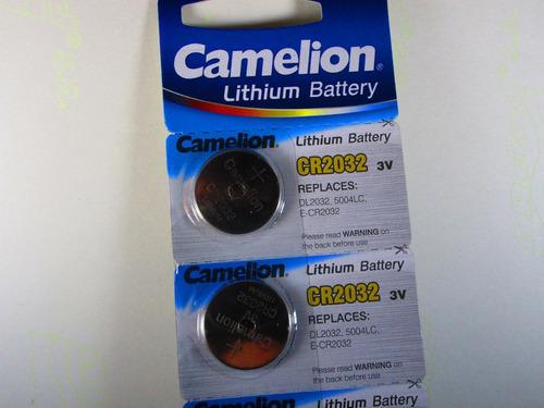 5 pilas boton de 3 voltios modelo 2032 de lithiun camelion