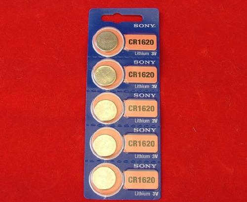 5 pilas de litio cr1620 sony tipo moneda 3 volts