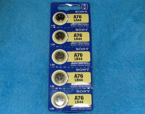 5 pilas lr44 o a76 o ag13 sony alcalina tipo bot n de - Tipos de pilas de boton ...