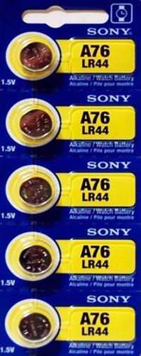 5 pilas tipo boton sony alcalina de lr44 a76 - Tipos de pilas de boton ...