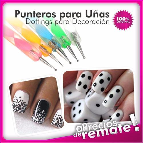 5 pinceles punteros punzones dotting decoracion uñas