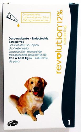 5 pipeta revolution perro 40 kg pulga garrapata tiña sarna