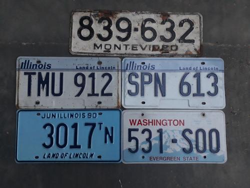 5 placas de carros estrangeiras coleção vendo separado