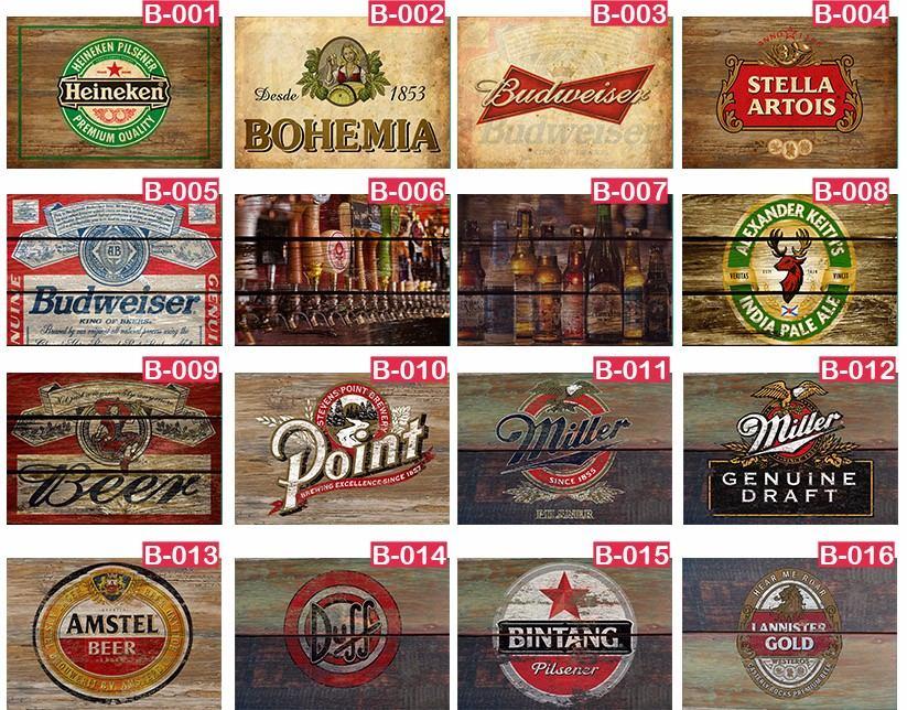 5 placas decorativas vintage retro bar cervejas frete - Placas decorativas para pared interior ...