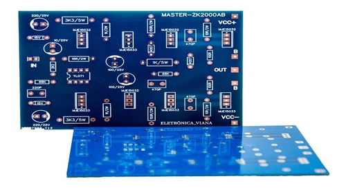 5 placas para montar amplificador 2000w rms  2sc5200/2sa1943