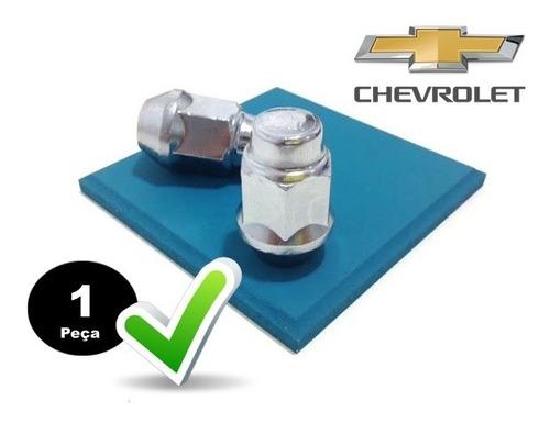 5 porcas de roda original cromada p/ chevrolet cobalt