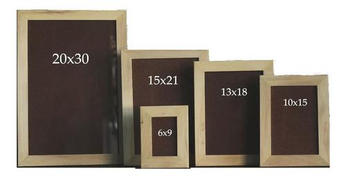 5 portarretrato madera crudo varilla chata 2cm 6x9