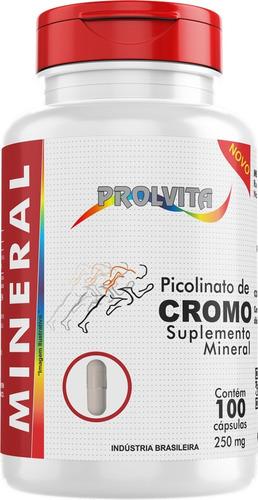 5 potes picolinato de cromo 250mg 100 capsulas melcoprol