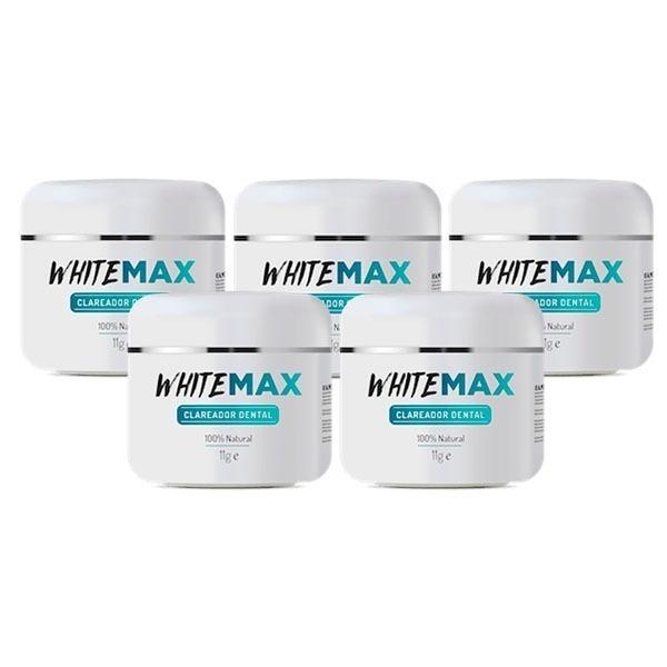 5 Potes Whitemax Clareador Dental 100 Natural White Max R 89 90
