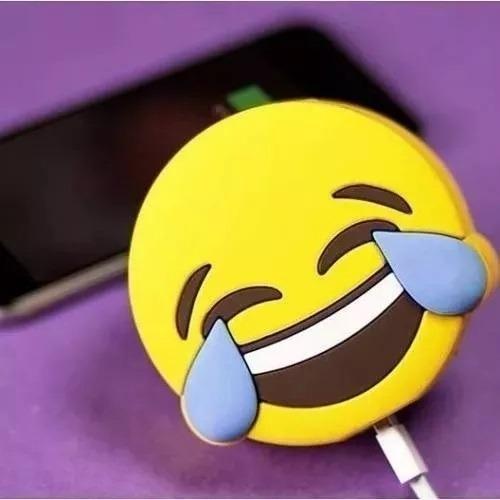 5 Power Bank Emoji Emoticon Risa Muerto De Risa Batería