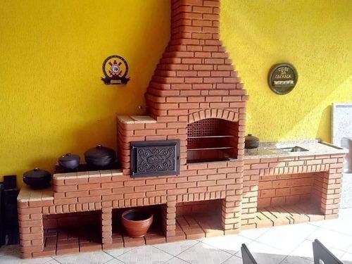 5 projetos fogão lenha com churrasqueira conjugados e outros