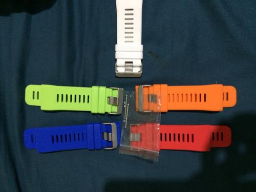 5 pulseiras + pelicula + parafusos vivoactive hr garmin