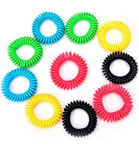 5 pulseras espiral repelente de mosquitos natural para niños