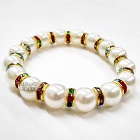 7d3a38b71be5 5 Pulseras Perladas Con Cristales Bisutería