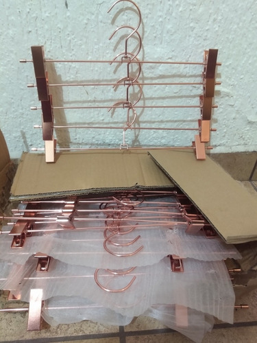 5 pza granchos koobay  satinado oro rosa perchas  clips