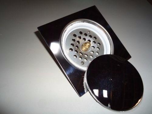 5 ralos click inteligente em inox 10x10 cm + 5 porta grelhas