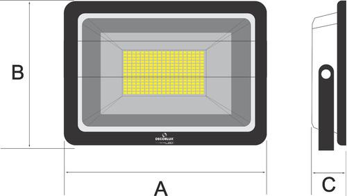 5 refletor de led 50w  decorlux  branco- luz branca bivolt
