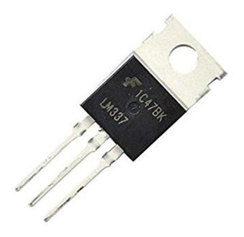 5 reguladores de voltaje lm337t, ajustable de -1,2 a -37 v