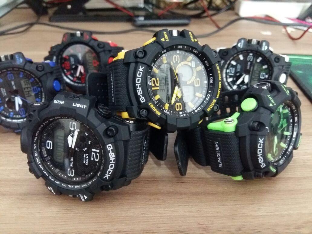 535cc99b9f6 5 relógios esportivos alarme led prova d água colorido frete. Carregando  zoom.