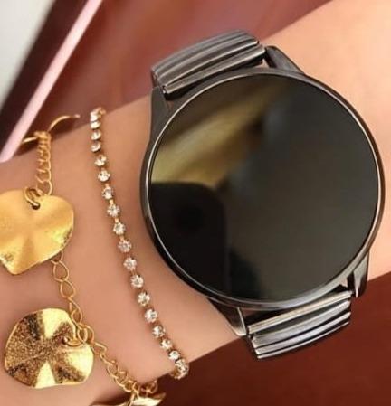 5 relógios led metal touch screnn unissex garantia revenda
