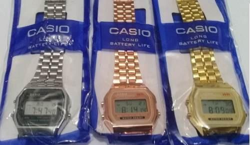 5 relógios retro vintage cores prata preto dourado rose