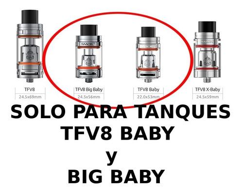 5 resistencias smok m2 baby 0.15ohm 100% original codigo
