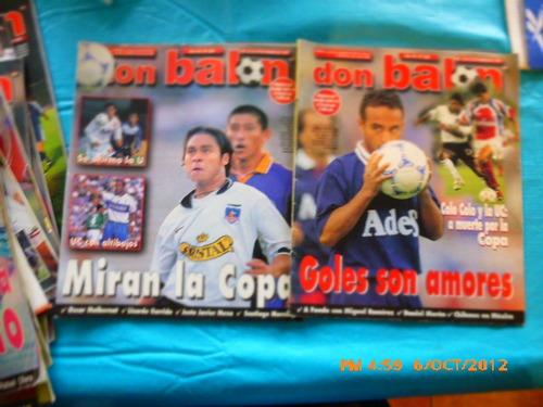5 revistas don balon entre 353-360 colo colo  1999 (267